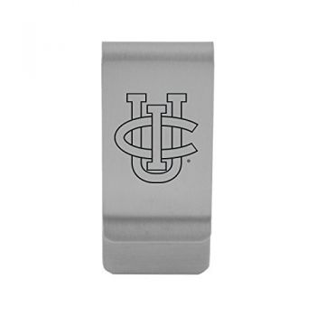 University of California, Irvine|Money Clip with Contemporary Metals Finish|Solid Brass|High Tension Clip to Securely Hold Cash, Cards and ID's|Gold