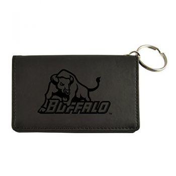 Velour ID Holder-University at Buffalo-The State University of New York-Black