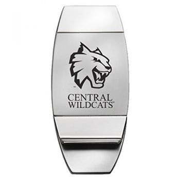 Central Washington University - Two-Toned Money Clip - Silver