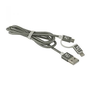 The University of Kansas-MFI Approved 2 in 1 Charging Cable