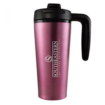 Southeastern Louisiana University -16 oz. Travel Mug Tumbler with Handle-Pink