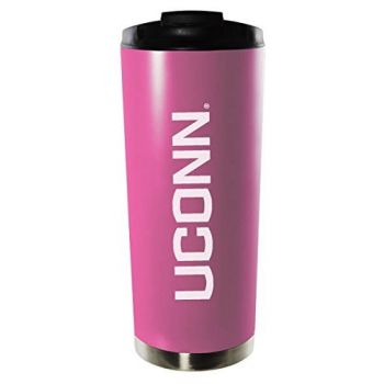 University of Connecticut-16oz. Stainless Steel Vacuum Insulated Travel Mug Tumbler-Pink