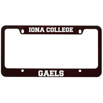 Iona College-Metal License Plate Frame-Burgundy