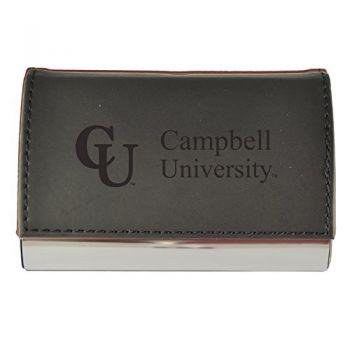Velour Business Cardholder-Campbell University-Black