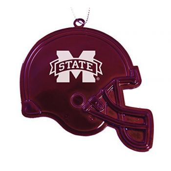 Mississippi State University - Chirstmas Holiday Football Helmet Ornament - Burgundy
