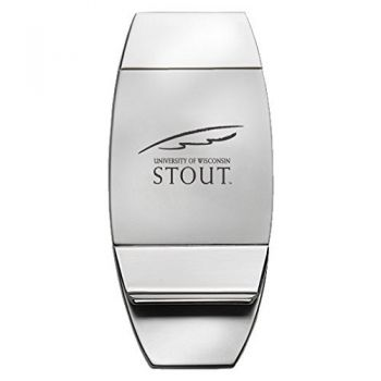 University of Wisconsin–Stout - Two-Toned Money Clip - Silver