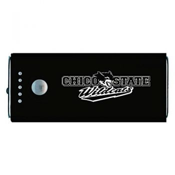 California State University, Chico-Portable Cell Phone 5200 mAh Power Bank Charger -Black