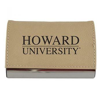 Velour Business Cardholder-Howard University-Tan