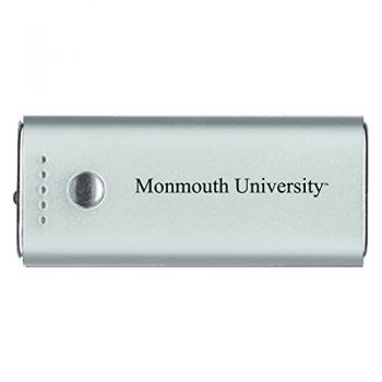 Monmouth University -Portable Cell Phone 5200 mAh Power Bank Charger -Silver