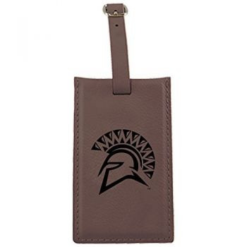 San Jose State University -Leatherette Luggage Tag-Brown
