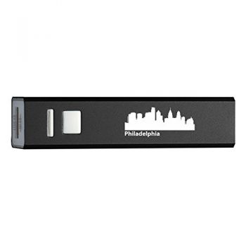Quick Charge Portable Power Bank 2600 mAh - Philadelphia City Skyline