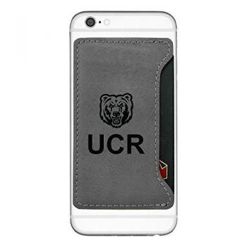 University of California, Riverside-Cell Phone Card Holder-Grey