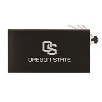 8000 mAh Portable Cell Phone Charger-Oregon State University -Black