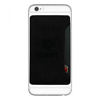 Belmont University-Cell Phone Card Holder-Black