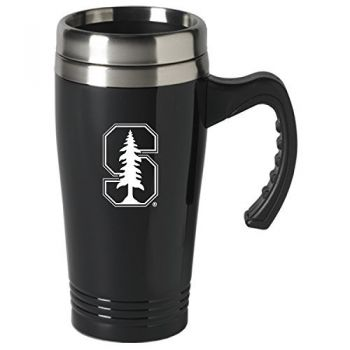 Stanford University-16 oz. Stainless Steel Mug-Black