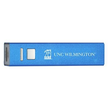 University of North Carolina Wilmington - Portable Cell Phone 2600 mAh Power Bank Charger - Blue