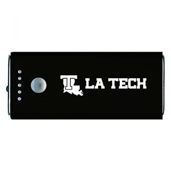 Louisiana Tech University -Portable Cell Phone 5200 mAh Power Bank Charger -Black