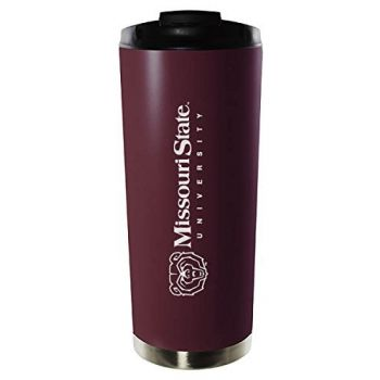 Missouri State University-16oz. Stainless Steel Vacuum Insulated Travel Mug Tumbler-Burgundy