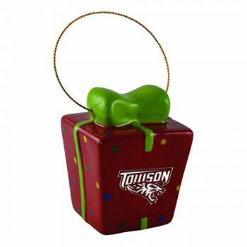 Towson University-3D Ceramic Gift Box Ornament