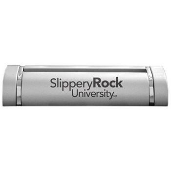 Slippery Rock University of Pennsylvania-Desk Business Card Holder -Silver