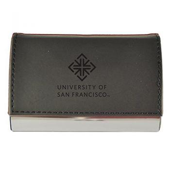 Velour Business Cardholder-University of San Francisco-Black