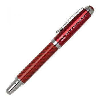 Miami University - Carbon Fiber Rollerball Pen - Red