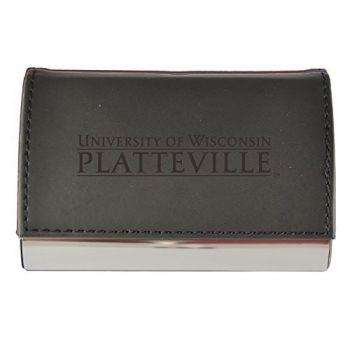 Velour Business Cardholder-University of Wisconsin-Platteville-Black