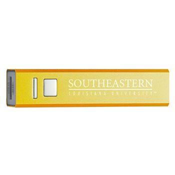 Southeastern Louisiana University - Portable Cell Phone 2600 mAh Power Bank Charger - Gold