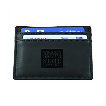 Winston-Salem State University-European Money Clip Wallet-Black