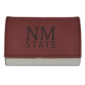 Velour Business Cardholder-New Mexico State-Burgundy