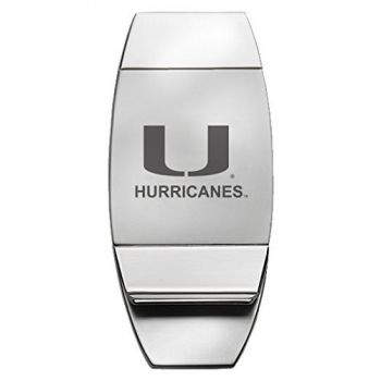 University of Miami - Two-Toned Money Clip - Silver