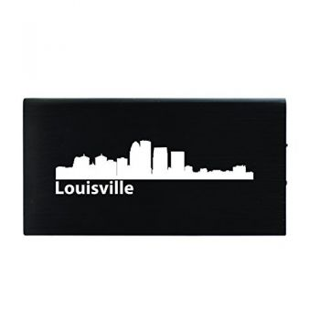 Quick Charge Portable Power Bank 8000 mAh - Louisville City Skyline