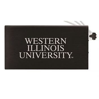 8000 mAh Portable Cell Phone Charger-Western Illinois University -Black