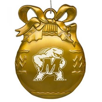 University of Maryland - Pewter Christmas Tree Ornament - Gold