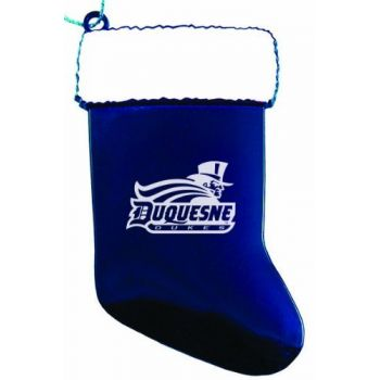 Duquesne University - Christmas Holiday Stocking Ornament - Blue