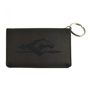 Velour ID Holder-Longwood University-Black