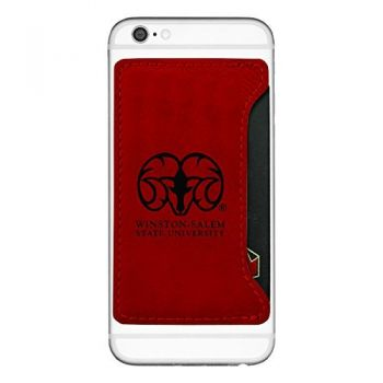 Winston-Salem State University-Cell Phone Card Holder-Red