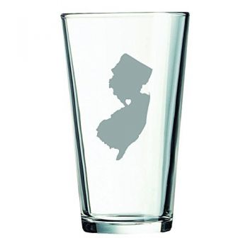 16 oz Pint Glass  - I Heart New Jersey - I Heart New Jersey