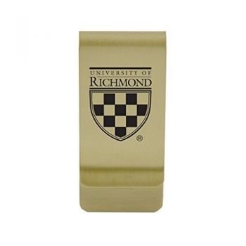 Rice University|Money Clip with Contemporary Metals Finish|Solid Brass|High Tension Clip to Securely Hold Cash, Cards and ID's|Silver