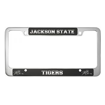 Jackson State University-Metal License Plate Frame-Black