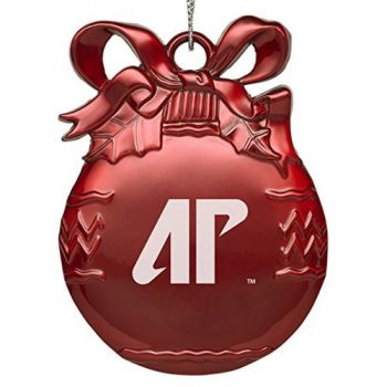 Austin Peay State University - Pewter Christmas Tree Ornament - Red