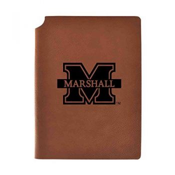 Marshall University Velour Journal with Pen Holder|Carbon Etched|Officially Licensed Collegiate Journal|