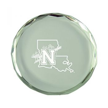 Northwestern State University-Crystal Paper Weight