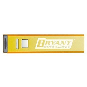Bryant University - Portable Cell Phone 2600 mAh Power Bank Charger - Gold