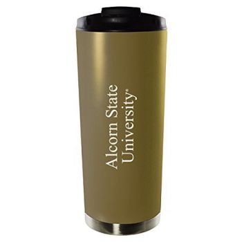 Alcorn State University-16oz. Stainless Steel Vacuum Insulated Travel Mug Tumbler-Gold