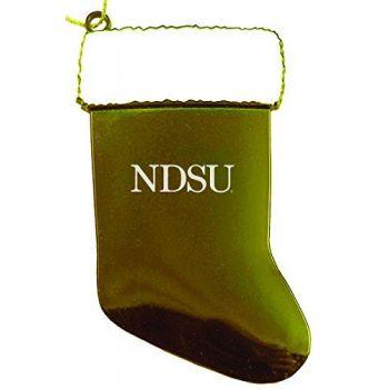 North Dakota State University - Christmas Holiday Stocking Ornament - Gold