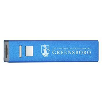 University of North Carolina at Greensboro - Portable Cell Phone 2600 mAh Power Bank Charger - Blue