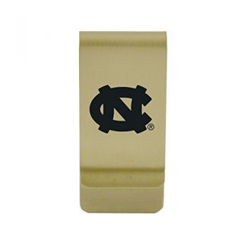 University of Montana|Money Clip with Contemporary Metals Finish|Solid Brass|High Tension Clip to Securely Hold Cash, Cards and ID's|Silver