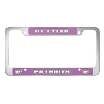 University of Texas at Tyler-Metal License Plate Frame-Pink