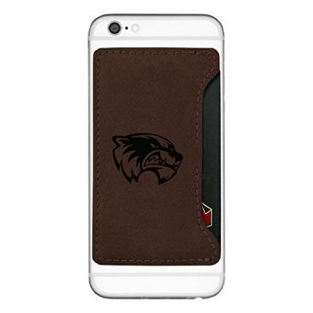 Utah Valley University-Cell Phone Card Holder-Brown